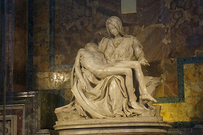 Michelangelo's Pieta.  St. Peter's Basilica, The Vatican.