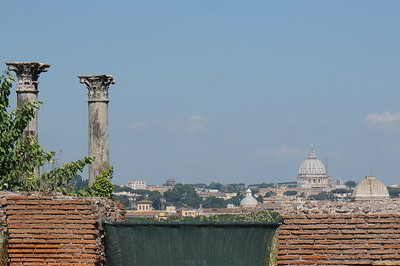 View of St. Peter's from Palatine Hill, Rome, Italy.