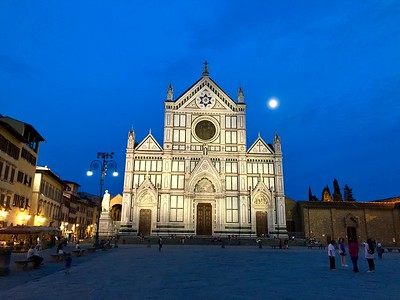 Santa Croce Basilica in Florence, Italy-One of the hidden gems of Florence.  It is the final resting place to Michelangelo, Galileo, Ghiberti, Rossini.  It has frescoes painted by Giotto, and a crucifix sculpted by Donatello.  Amazing to say the least and no lines.