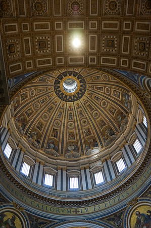The Inside View of the Dome, St. Peter's Basilica, The Vatican.