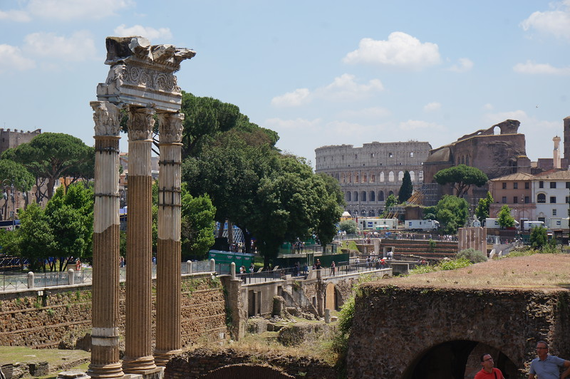 View of Palatine Hill, Rome, Italy.