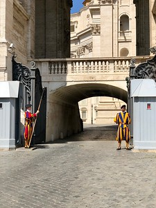 The Swiss Guard of the Vatican.