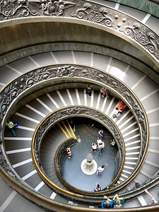Also the exist stair case at the Vatican Museum