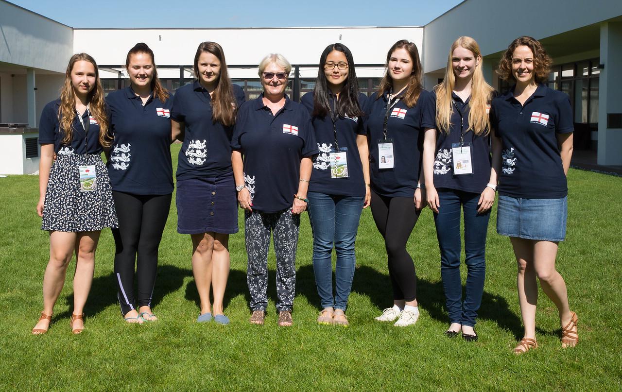 U26 Women's team -  Ewa Wieczorek, Olivia Bailey, Yvonne Wiseman, Sally Brock (NPC),  Siyu Ren, Hanna Tuus, Alex Birchall, Bryony Youngs (Coach)