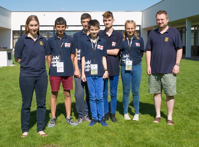 U16 team - Sarah Bell (NPC), Andy Cope, Oscar Selby, Henry Rose, Theo Anoyrkatis, Liz Gahan, Mike Bell (coach) (absent - Alex Pemberton)