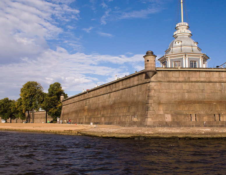Peter and Paul Fortress seen from the Neva River