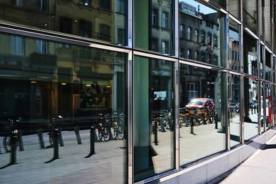 European Parliament Windows reflections