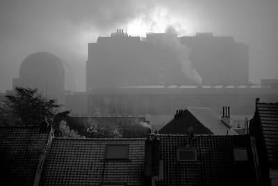 European Parliament in fog