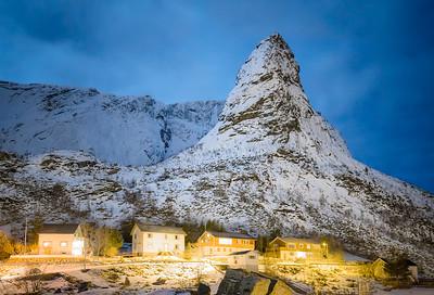 Reine at Night, Lofoten, Norway