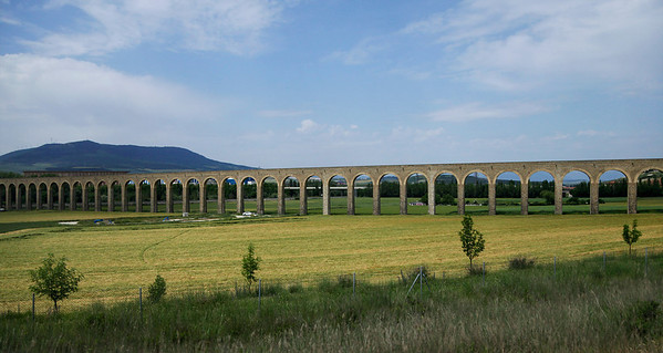 Pamplona (Iruña), Spain Completed in 1790, the Aqueduct of Noáin is 5 km south of Pamplona and supplied water to the city of Pamplona.It originally had 97 arches, of which 94 remain.