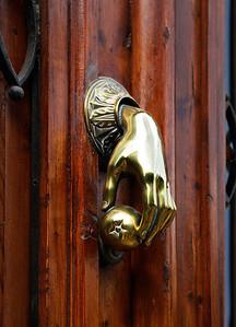 Pamplona (Iruña), Spain A doorknocker in Pamplona.