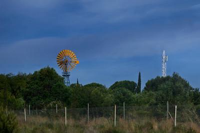 Catalonia, Spain A windmill in Catalonia.