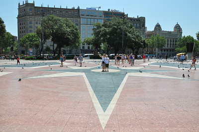 Catalunya Plaza - 150 meters from our place.