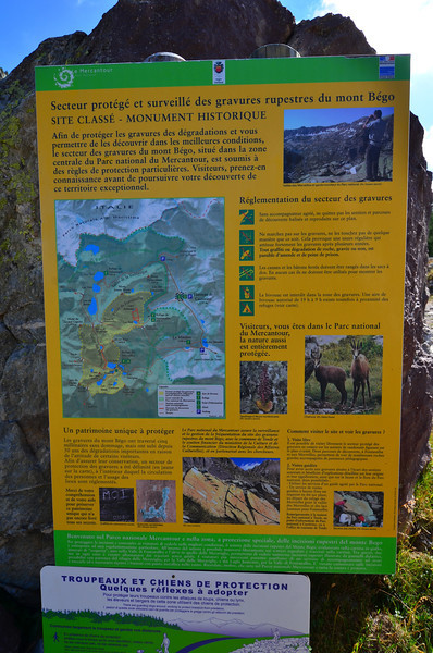 The quick translation: UNESCO world heritage site is ahead. We walked about 5 miles the first day, climbing 2,000 ft through meadows and sparse larche forest.