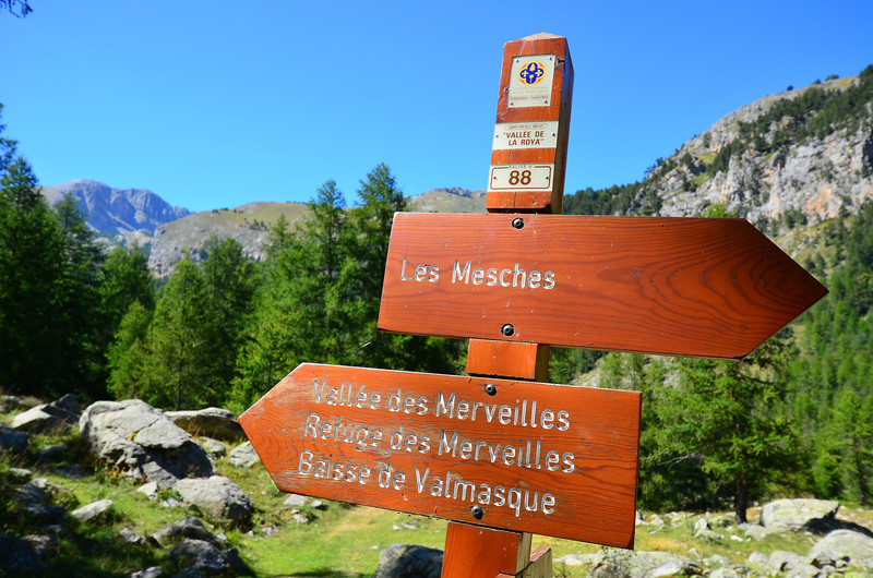 The trailhead was at Les Mesches, a short bus ride from Tende, France, which is on a main rail line between Nice, France and Cuneo, Italy.