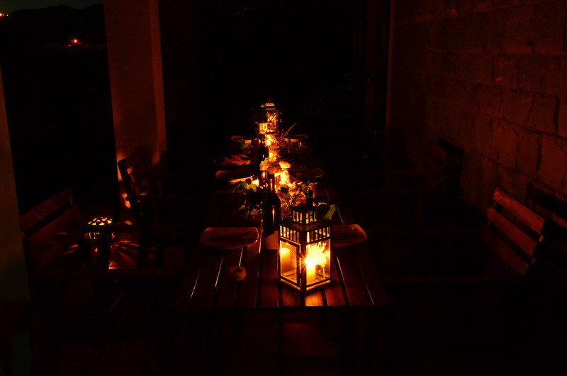 Table seating for dinner on our final night. Thank you.