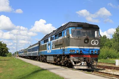 GoRail TEP70 0236 at Lelle on 0953 PTG 'Rail Wonders of Estonia' charter - 26/06/11