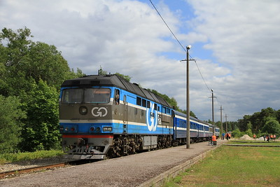 GoRail TEP70 0236 at Pärnu on 0953 PTG 'Rail Wonders of Estonia' charter - 26/06/11
