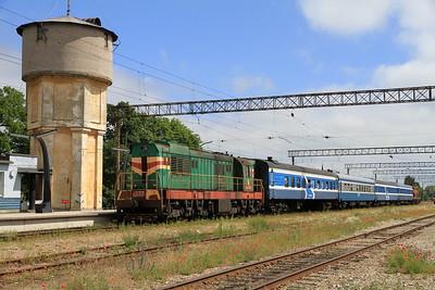 EVR 1337 at Keila on 0953 PTG 'Rail Wonders of Estonia' charter - 27/06/11