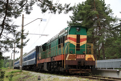 EVR 1337 at Klooga Rand on 0951 PTG 'Rail Wonders of Estonia' charter - 27/06/11