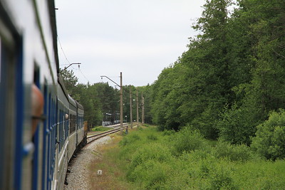 EVR 1337 approaching Klooga Rand on 0951 PTG 'Rail Wonders of Estonia' charter - 27/06/11