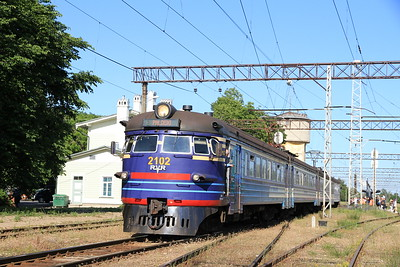EVR EMU (2102) dep Keila on a Paldiski service - 27/06/11