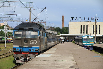 GoRail TEP70 0237 at Tallinn Balti on 034 17.20 to Moskva - 25/06/11