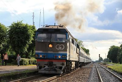 GoRail TEP70 0237 dep Tapa on 034 17.20 Tallinn-Moskva - 25/06/11
