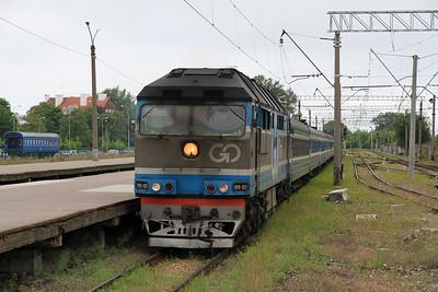 GoRail TEP70 0237 arr Tallinn Balti on the previous days 18.05 ex Moskva - 27/06/11