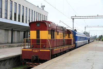 EVR 1327 at Tallinn Balti on rear of 0951 PTG 'Rail Wonders of Estonia' charter - 27/06/11