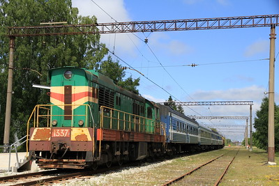 EVR 1337 at Riisipere on 0953 PTG 'Rail Wonders of Estonia' charter - 27/06/11