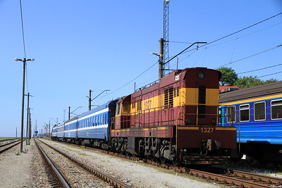EVR 1327 at Paldiski on rear of 0955 PTG 'Rail Wonders of Estonia' charter - 27/06/11