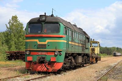 LDZ M62 1093 at Pärnu Kauba - on hire for engineering work apparently - 26/06/11