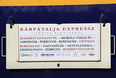 Gen on the 'Karpátálja Expressz' carried on the coaches  - 09/09/11.