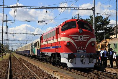 MÁV M61 017 at Pribeník on the 'Karpátálja Expressz'  - 09/09/11.