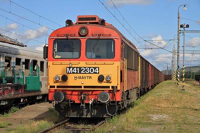 MÁV M41 2304 at Slovenské Nové Mesto on a freight  - 09/09/11.