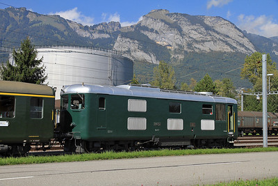 SBB 18451 at the end of the short branch from Salez-Sennwald to the AGIP Oil terminal on Desperate Tours 'The Great Krokodil Hunt & Swiss Sulzer Explorer - Day1' - 23/09/11.