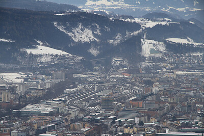 Innsbruck Panorama from Hungerburg - 29/02/12.