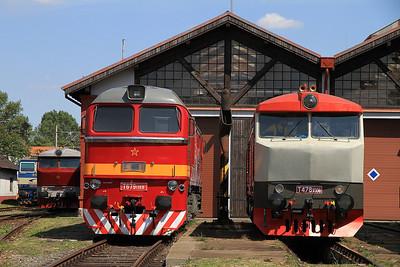 ex-ČSD T679 1168 (781168) / ČD T478 1008 (749008) on display at Bratislava Vychod - 24/06/12.