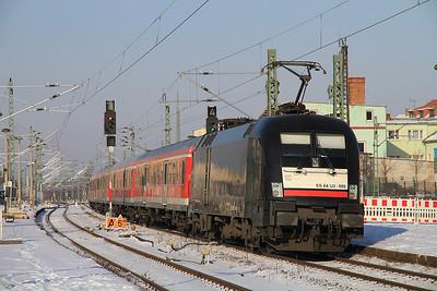 MRCE 182509 dep Merseburg on RB16321 12.13 Eisenach-Halle (Saale) - 05/02/12.