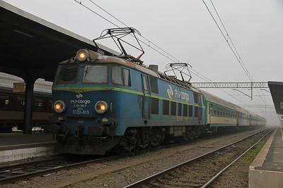 PKP ET22 813, Poznań Gł, IR-78113 08.27 to Szczecin - 17/11/12.