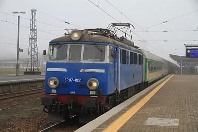 PKP EP07 1051, Warszawa Zachodnia, I-25113 0725 Lublin-Gdynia/Kołobrzeg - 16/11/12.