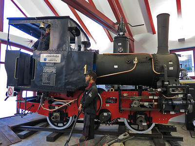 Achenseebahn No. 1 in the Achenseer Museumswelt at Maurach - 30/12/12.