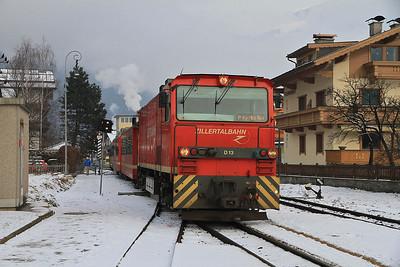 ZB D13 arr Zell am Ziller, R139 11.37 Jenbach-Mayrofen - 02/01/13.