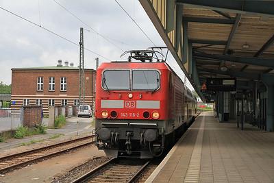 DB 143116, Zwickau (Sachs) Hbf, RB17221 12.38 to Dresden - 04/07/13.