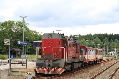 ČD 742201, Johanngeorgenstadt, 17111 16.25 to Karlovy Vary Dolni - 04/07/13.