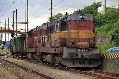 ČD 742419 / 742194 stabled at Karlovy Vary - 04/07/13.