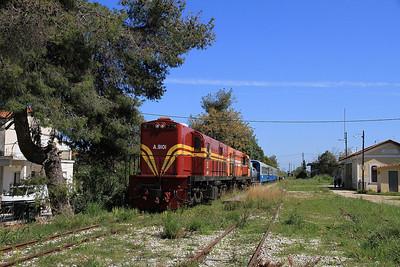 OSE A9101+A9105, Varda, 7350 09.00 Patra-Katakolo charter - 11/04/13.
