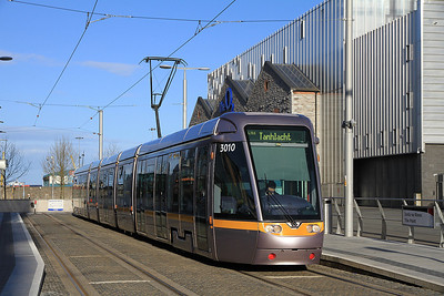Dublin Tram 3010, The Point, Tallaght service - 10/05/13.
