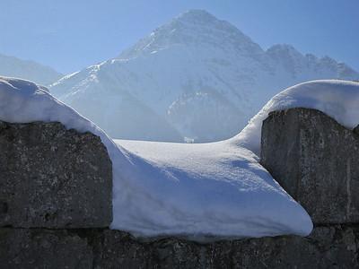 snow atop the Ehrenberg ruins - 02/03/13.
